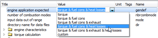 IFP Drive engine model configuration for heat release computation